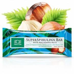 SuperSpirulīna Bar ar makadamijas riekstiem