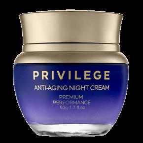 Privilege  Pretnovecošanās nakts krēms sejai un kaklam ar kafijas ekstraktu un eļļu