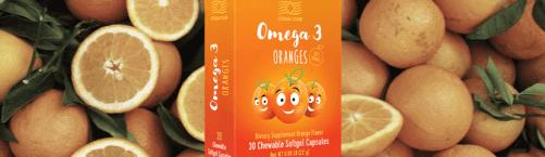 Omega-3 Apelsīni garšīgā zivju eļļa bērniem